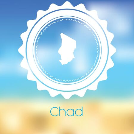 chad: A Map of the country of Chad