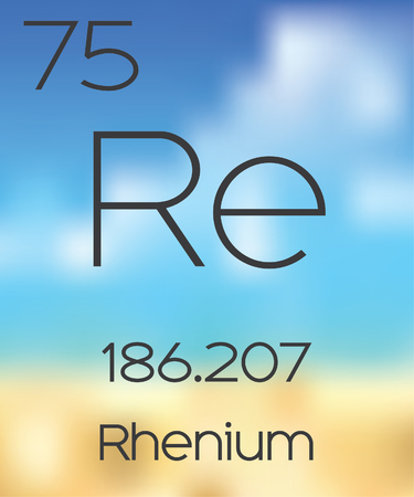 periodic table of the elements: The Periodic Table of the Elements Rhenium