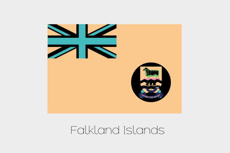 falkland: An Inverted Flag of  Falkland Islands