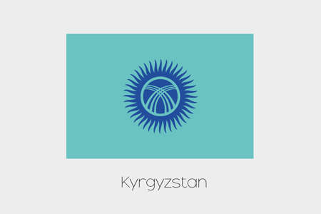 inverted: An Inverted Flag of  Kyrghyzstan
