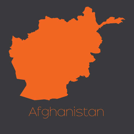 afghanistan: A Map of the country of Afghanistan Stock Photo