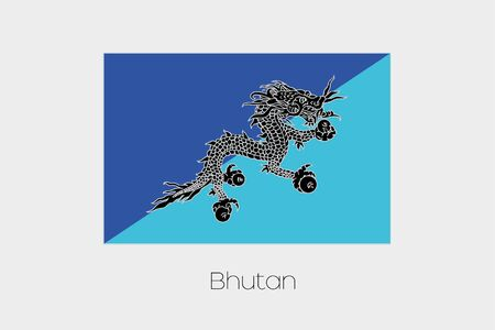 inverted: An Inverted Flag of  Bhutan