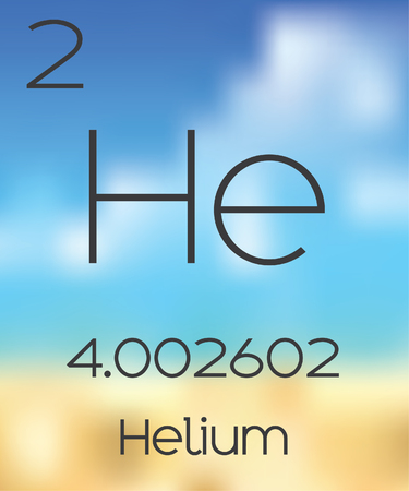 periodic table of the elements: The Periodic Table of the Elements Helium Stock Photo