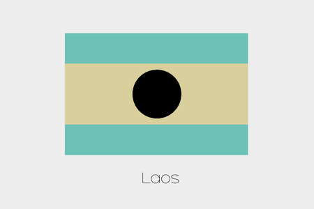 inverted: An Inverted Flag of  Laos Stock Photo