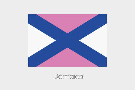 inverted: An Inverted Flag of  Jamaica Stock Photo