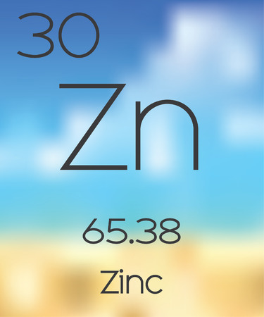 periodic table: The Periodic Table of the Elements Zinc Stock Photo