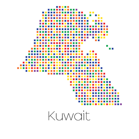 trans gender: A Map of the country of Kuwait Stock Photo