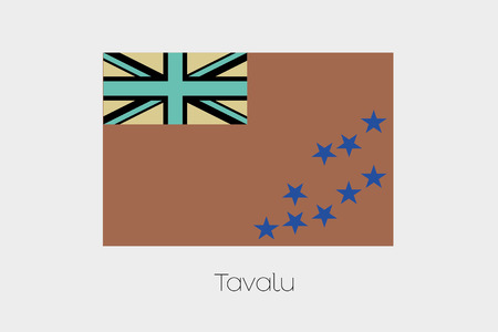 inverted: An Inverted Flag of  Tavalu Stock Photo