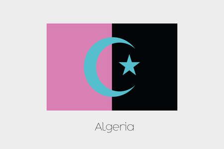 inverted: An Inverted Flag of  Algeria