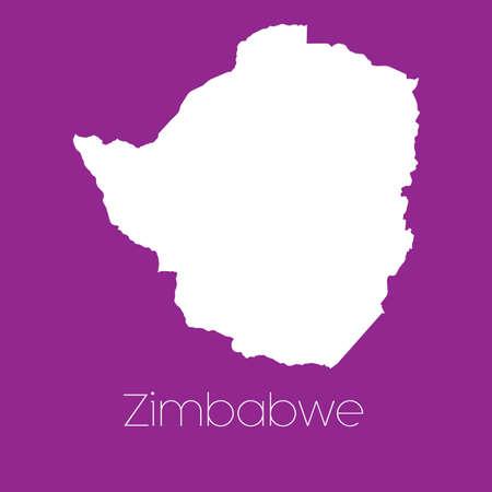zimbabwe: A Map of the country of Zimbabwe