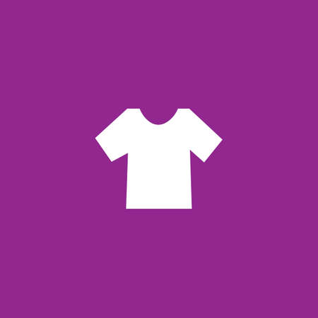 men's: A White Icon Isolated on a Purple Background - Mens TShirt Stock Photo