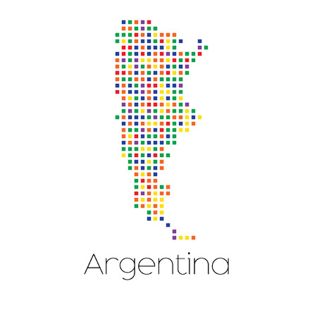 trans gender: A Map of the country of Argentina Stock Photo