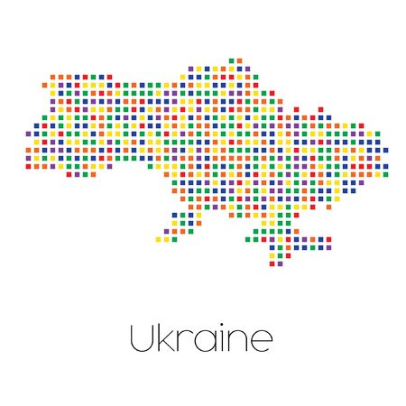 trans gender: A Map of the country of Ukraine Stock Photo