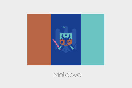 inverted: An Inverted Flag of  Moldova Stock Photo