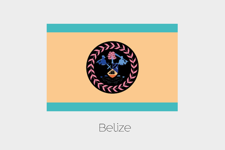 belize: An Inverted Flag of  Belize