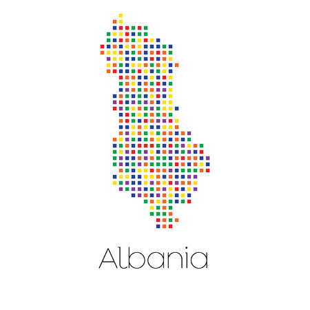trans gender: A Map of the country of Albania Stock Photo