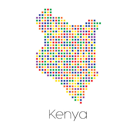 trans gender: A Map of the country of Kenya