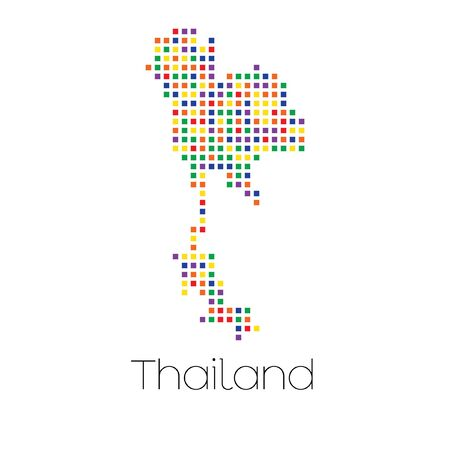 trans gender: A Map of the country of Thailand