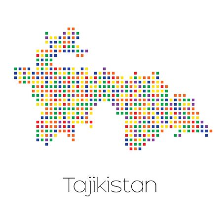 trans gender: A Map of the country of Tajikistan Stock Photo