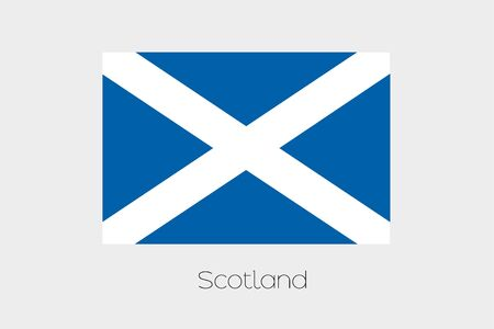 inverted: An Inverted Flag of  Scotland Stock Photo