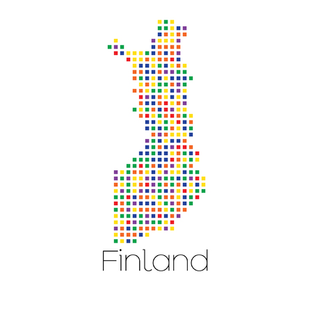 trans gender: A Map of the country of Finland