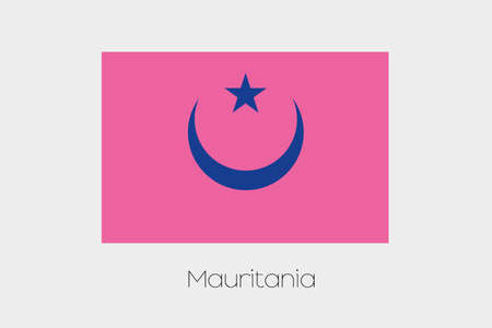 inverted: An Inverted Flag of  Mauritania Stock Photo