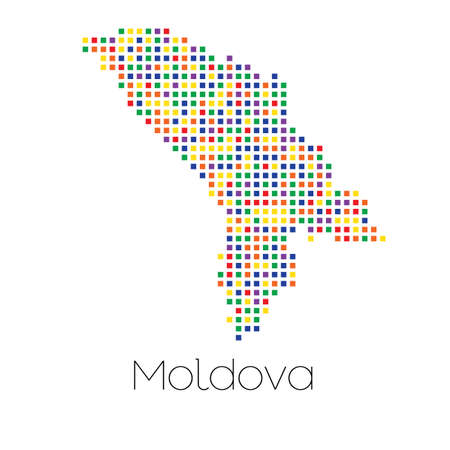 trans gender: A Map of the country of Moldova