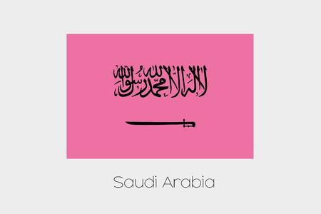 inverted: An Inverted Flag of  Saudi Arabia