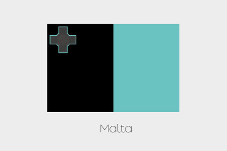 inverted: An Inverted Flag of  Malta Stock Photo