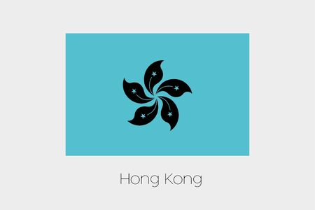 inverted: An Inverted Flag of  Hong Kong