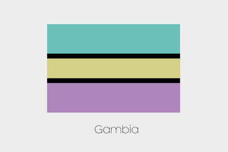 inverted: An Inverted Flag of  Gambia Stock Photo