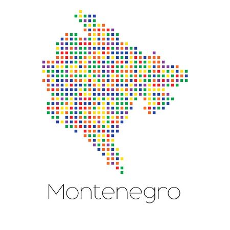 trans gender: A Map of the country of Montenegro