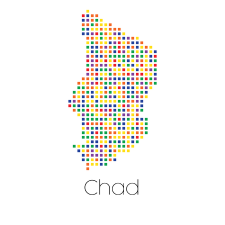 trans gender: A Map of the country of Chad