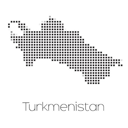 turkmenistan: A Map of the country of Turkmenistan Stock Photo