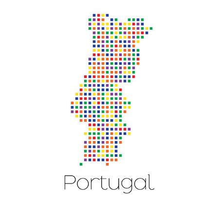 trans gender: A Map of the country of Portugal Stock Photo