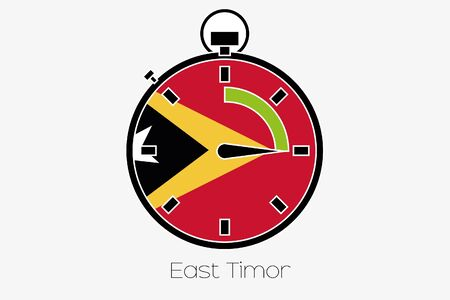 timor: A Stopwatch with the flag of East Timor