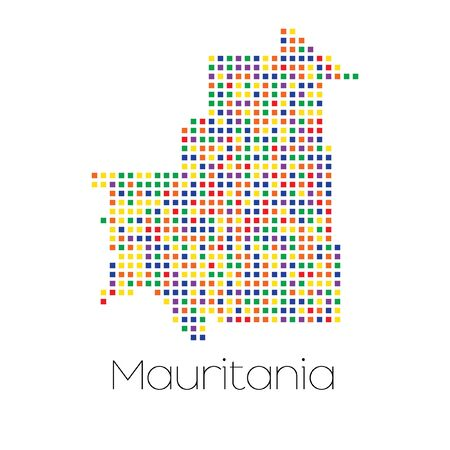 trans gender: A Map of the country of Mauritania