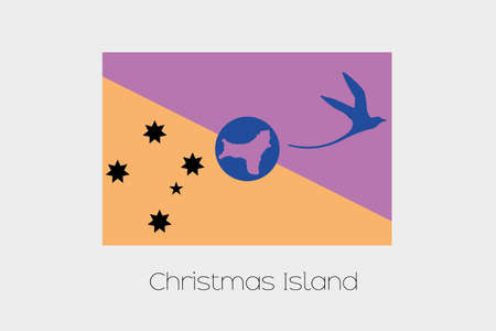 inverted: An Inverted Flag of  Christmas Island Stock Photo