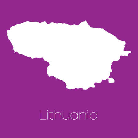 lithuania: A Map of the country of Lithuania