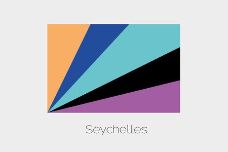 seychelles: An Inverted Flag of  Seychelles
