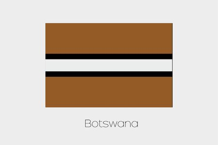 inverted: An Inverted Flag of  Botswana Stock Photo