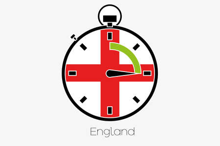 england politics: A Stopwatch with the flag of England