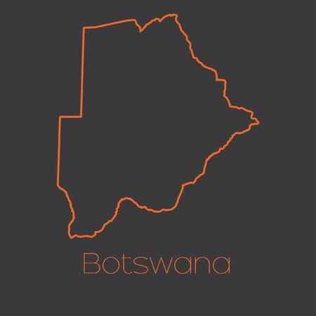 botswana: A Map of the country of Botswana Stock Photo