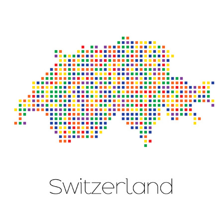 trans gender: A Map of the country of Switzerland
