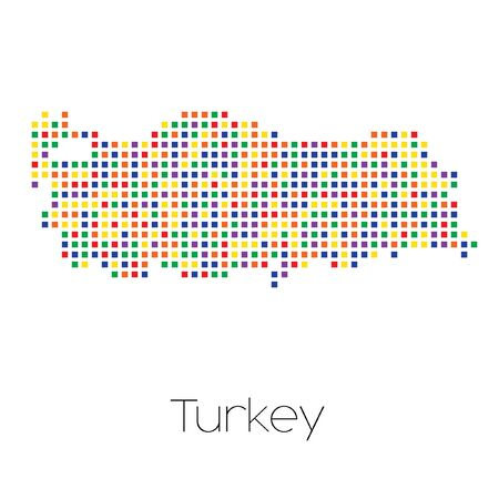 trans gender: A Map of the country of Turkey Stock Photo