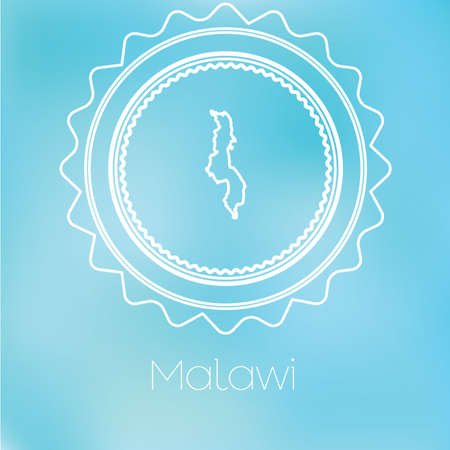 malawi: A Map of the country of Malawi