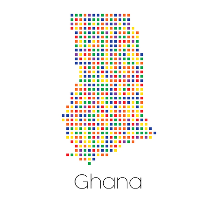 trans gender: A Map of the country of Ghana