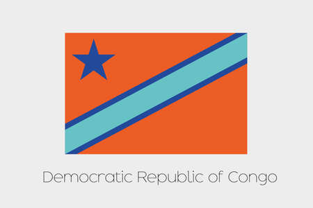 inverted: An Inverted Flag of  Democratic Republic of Congo Stock Photo
