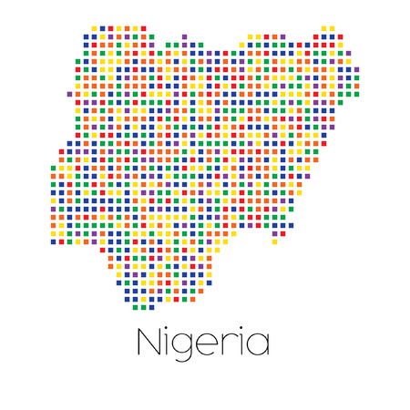 trans gender: A Map of the country of Nigeria