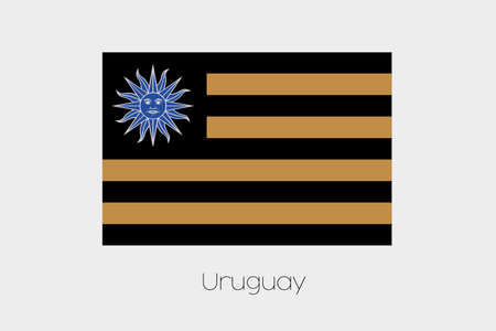 uruguay: An Inverted Flag of  Uruguay